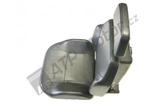 Driver seat assy textile upholstery stronger 150,00 kg new type