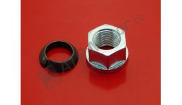Wheel nut straight with clip