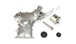 Front cover with flange for power steering pump